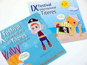 Cartel y folleto del Festival internacional de Títeres